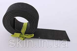 Полоса кожи хромового дубления черного цвета, толщина 3.5 мм, арт. СК 1609