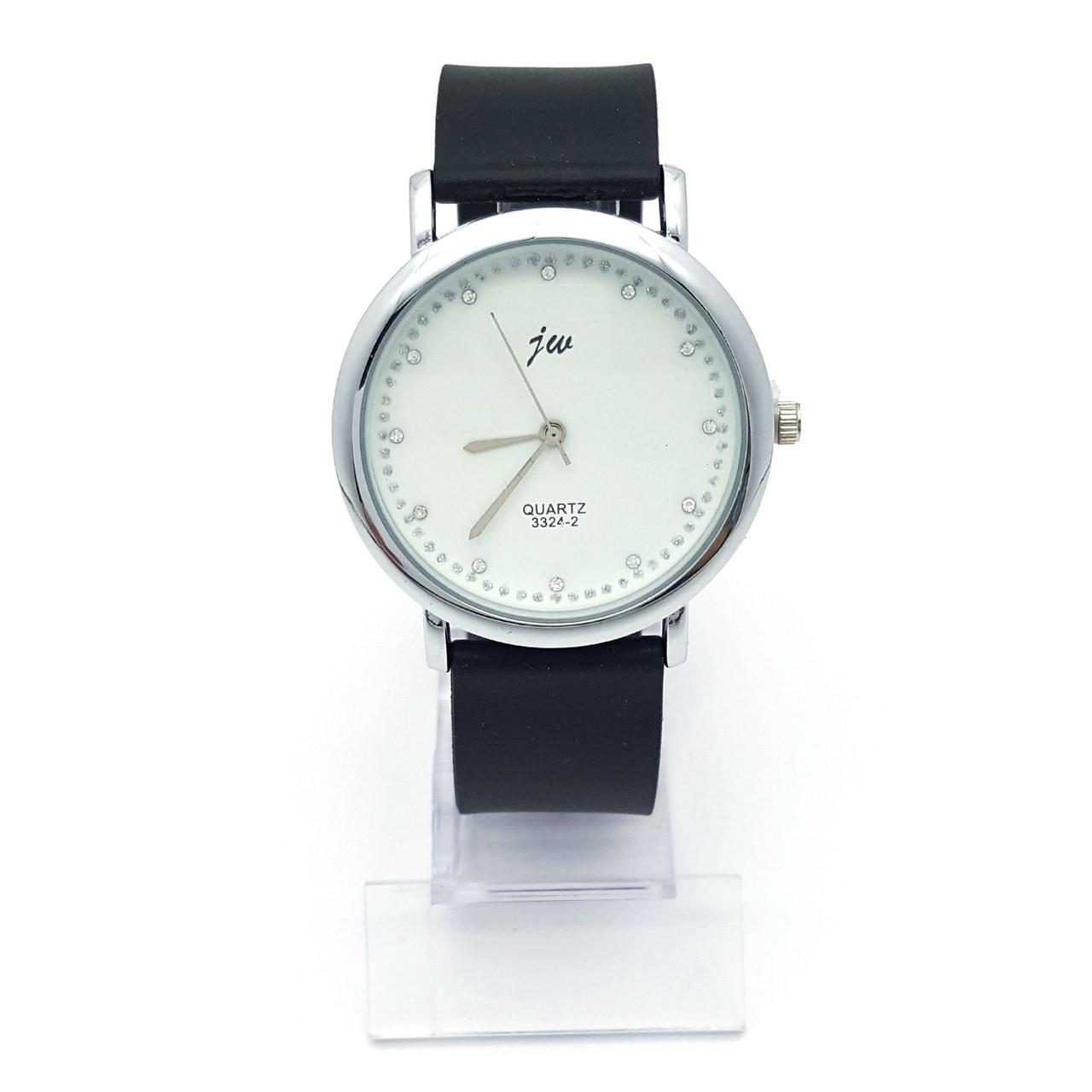 Часы на силиконовом ремешке, со стразами, длина ремешка 16,5-21,5см, циферблат -39мм