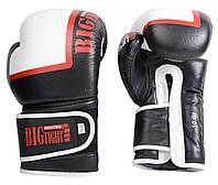 Боксерские перчатки Bigfight 18 унций Черно-белые