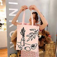Сумка-шоппер, тканевая сумка, сумка для продуктов, пляжная сумка, эко сумка, эко шоппер, сумка для покупок
