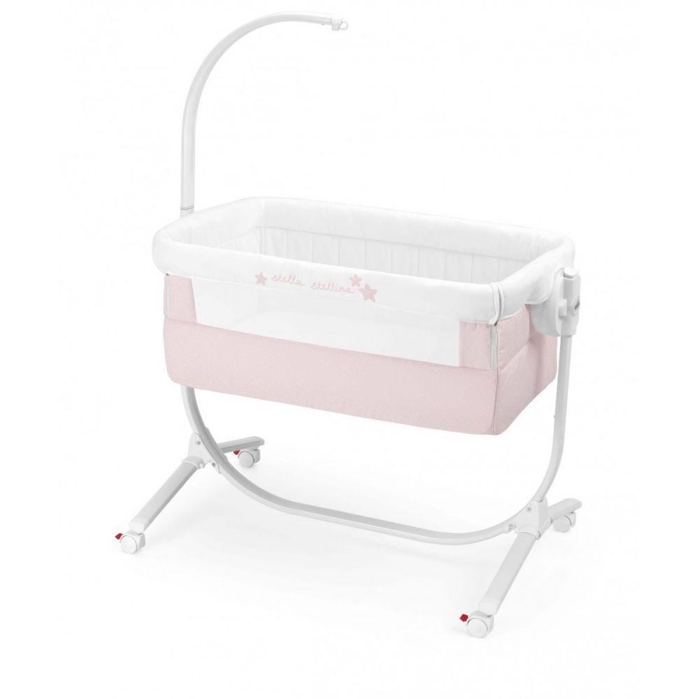 Кроватка люлька Cam Cullami c постелью розовый 925/926/T141