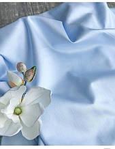 Сатин (хлопковая ткань) однотон небесно-голубой (2.55 м)