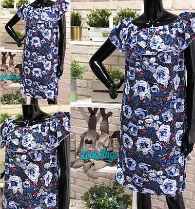 """Стильное женское платье """"Трикотаж"""" 56, 58 размер батал, фото 2"""