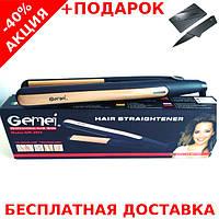 Профессиональный выпрямитель для волос Gemei GM-2955 с турмалиновым покрытием + нож кредитка