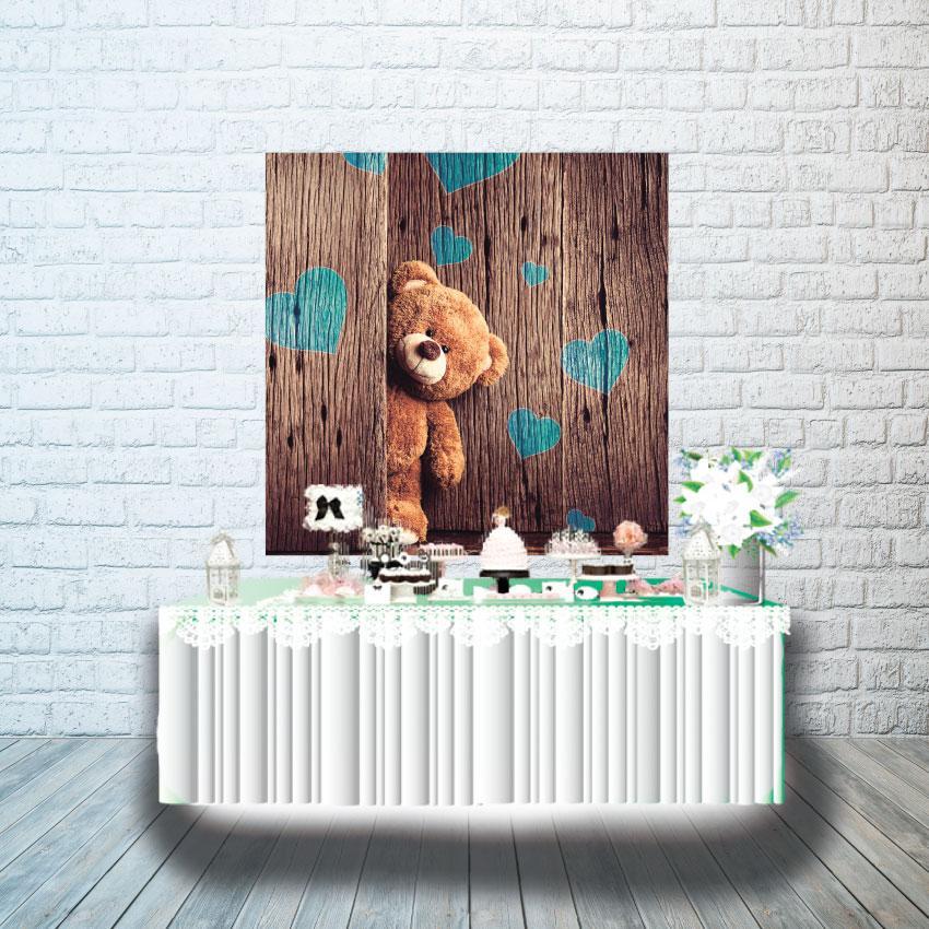 Плакат для кенди бара 1х1м, Мишка Тедди