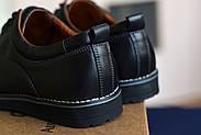 Мужские туфли Bastion черные, из натуральной кожи, фото 2