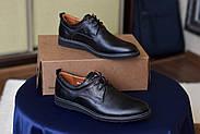 Мужские туфли Bastion черные, из натуральной кожи, фото 3