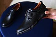 Мужские туфли Bastion черные, из натуральной кожи, фото 4