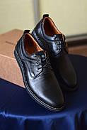 Мужские туфли Bastion черные, из натуральной кожи, фото 7