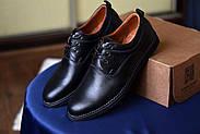 Мужские туфли Bastion черные, из натуральной кожи, фото 6