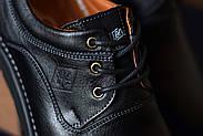 Мужские туфли Bastion черные, из натуральной кожи, фото 8
