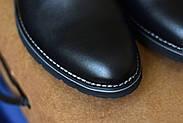 Мужские туфли Bastion черные, из натуральной кожи, фото 9