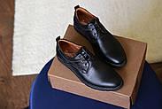Мужские туфли Bastion черные, из натуральной кожи, фото 10