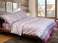 Комплект постельного белья Уютная Жизнь двуспальный 180x215 см Розовый (milye-serdechka-na-rozovom_dvoyka)