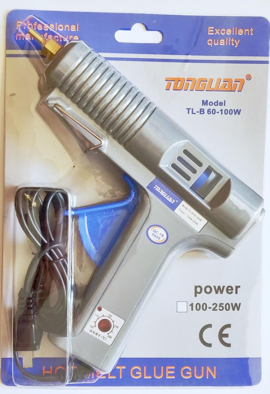 Пистолет клеевой для силиконового клея Holt Melt Glue Gun TL-B 60-100w с регулировкой температуры