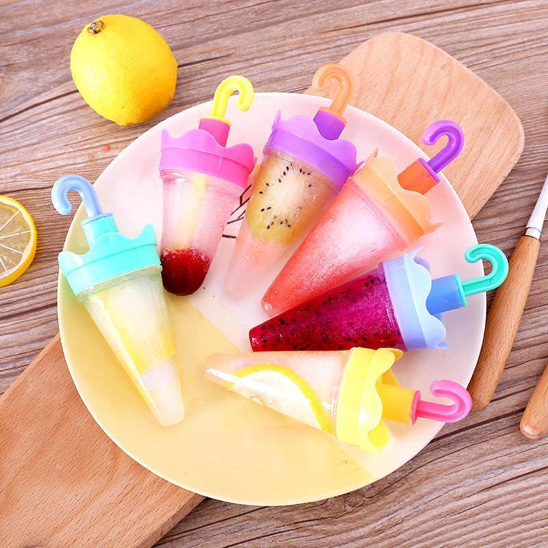 Формочки для морозива (парасолька, 6 форм) / Формочки для мороженого (зонтик, 6 форм), пластик, 16.2х10.8х16.5