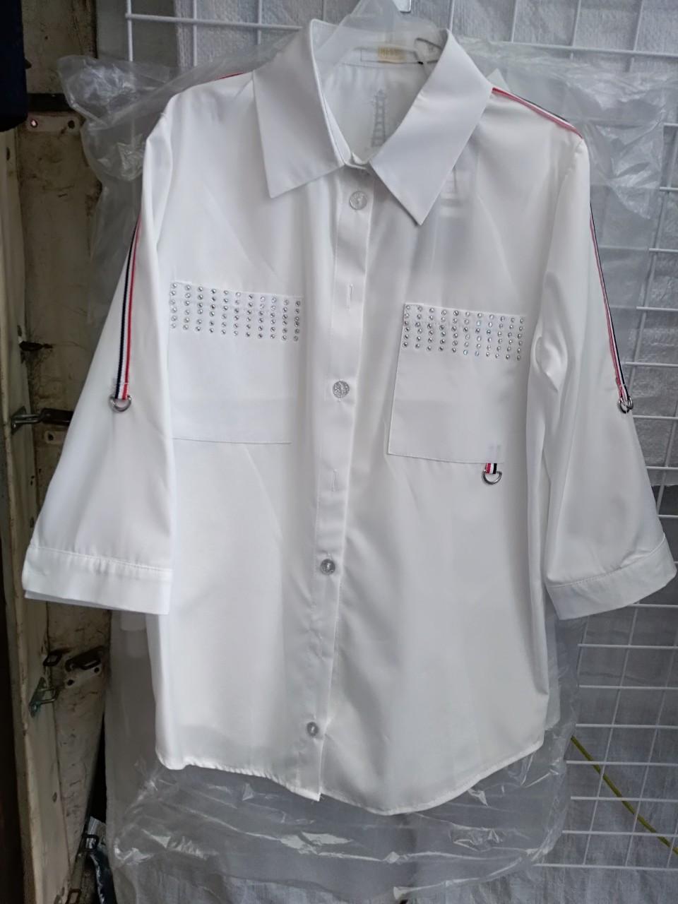 Подростковая рубашка для девочки школьная р.140-158 опт