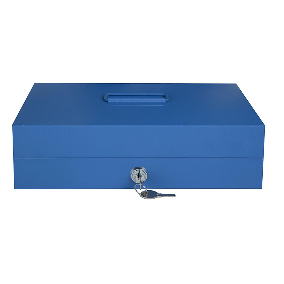 Металлическая коробка-кешбокс TS812 синий
