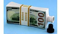 Штоф, набор для спиртного в виде пачки 10000$