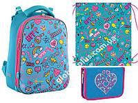 """Набор: рюкзак ортопедический + сумка для обуви + пенал «YES» """"Fun Mood"""" H-12, 556048-1, фото 1"""