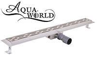 Линейный трап для душа под плитку 1000мм Aqua-World СТ002-10