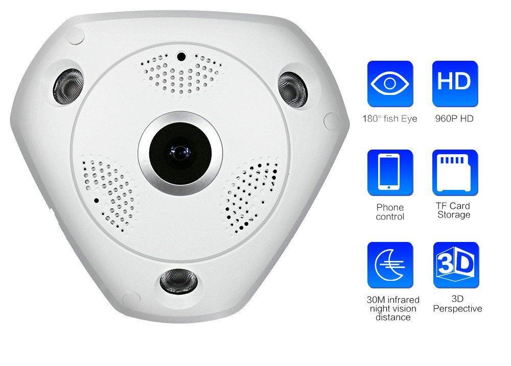 Панорамная IP камера 3D XPX 360 градусов,WI FI VR наблюдения 3д