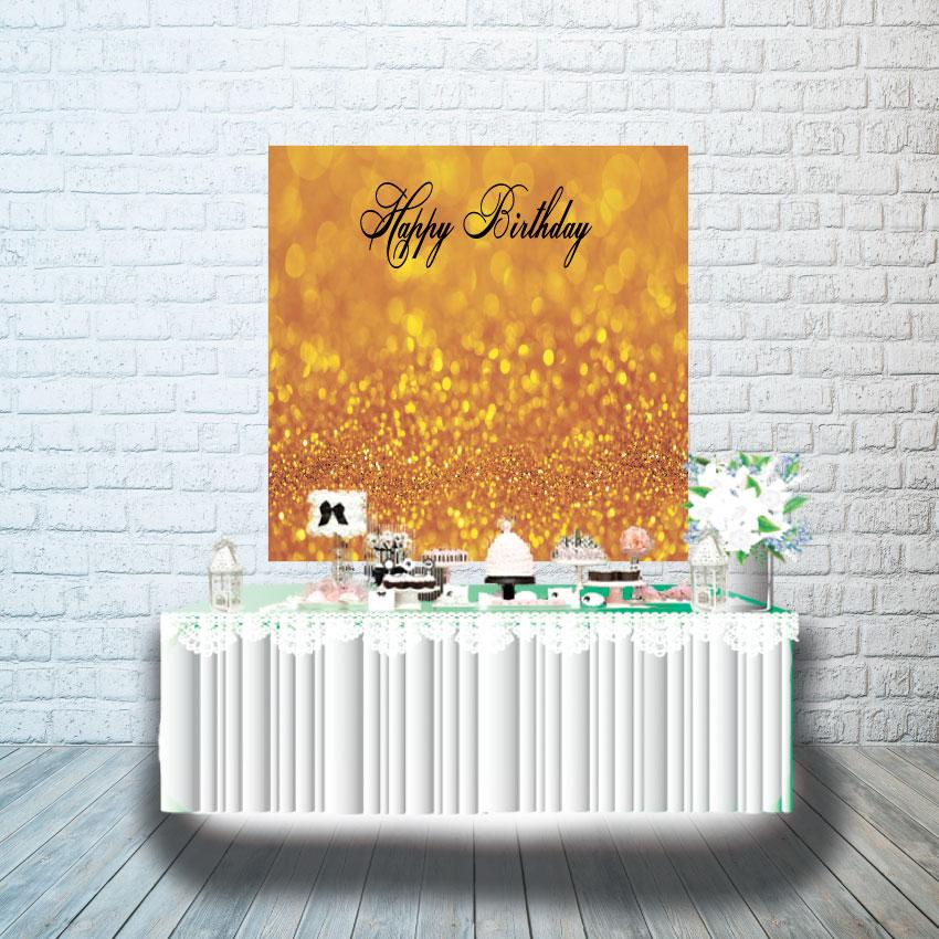 Плакат для кенди бара 1х1м, золотой