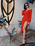 Женское платье с разрезом (в расцветках), фото 5