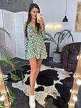 Женское платье на запах в крупный горох мятного цвета, фото 3