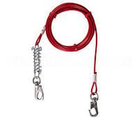 Привязочный трос для привязи собак стальной с амортизирующей пружиной Trixie (Трикси)  5 м