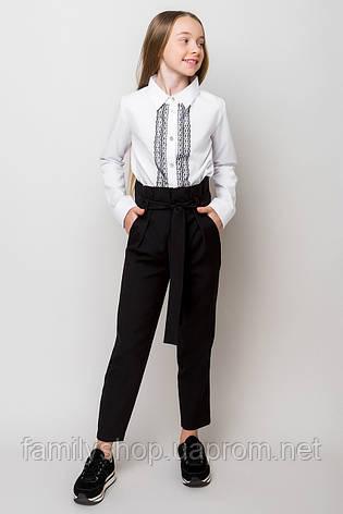Стильные школьные брюки синего цвета на девочку  , фото 2
