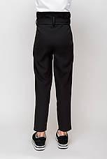 Стильные школьные брюки синего цвета на девочку  , фото 3