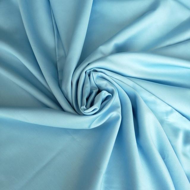 ткань сатин голубой
