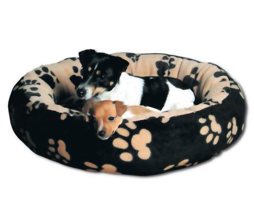 """Спальное место для собак круглое Trixie """"Sammy"""" черный/бежевый (Трикси), 90 см"""