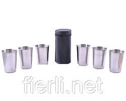 Походные рюмки из нержавеющей стали (6 шт) PM-16-6