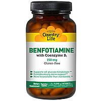 Бенфотиамин c коэнзимным В1, Country Life, 150 мг, 60