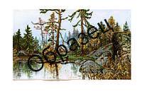 Схема для вышивки бисером «Пейзаж осенняя природа»