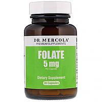 Фолат, Folate, Dr. Mercola, 5 мг, 30 капсул