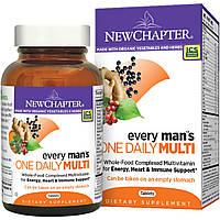 Мультивитамины для мужчин, Every Man's Multi, New Chapter, 1 в день, 96 таблеток