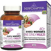 Мультивитамины для женщин старше 40+ One Daily Multi, New Chapter, 48 таблеток