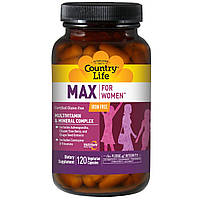Мультивитамины для женщин, Country Life, 120 кап.