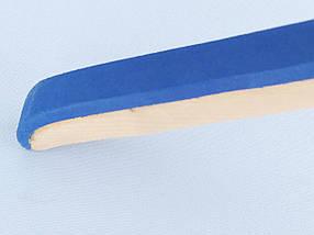 Длина 42,5 см. Плечики  тремпеля комиссионные деревянные светлые с поролоном, фото 2