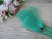 Мереживо в квіточку 4,5 см колір зелений