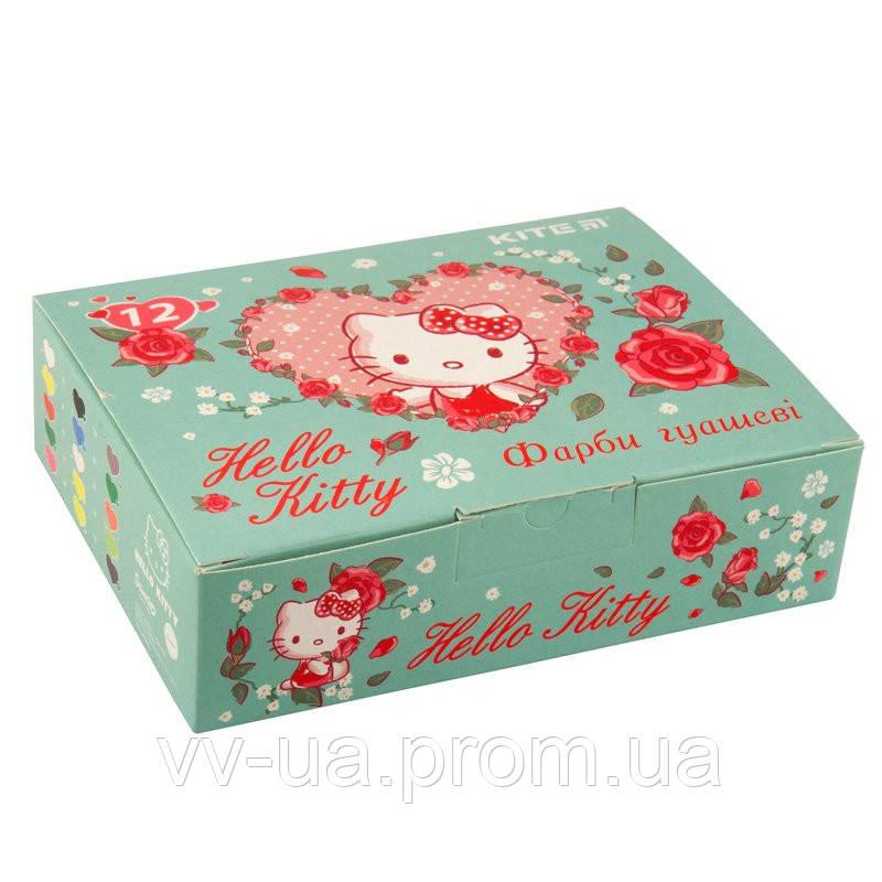 Гуаш Kite Hello Kitty, 12 цветов HK19-063