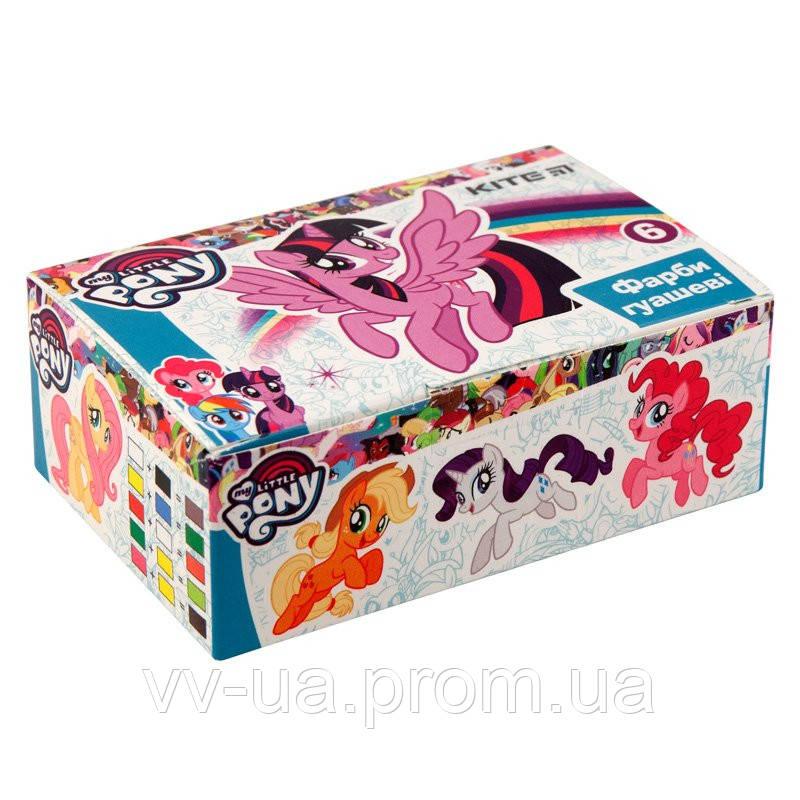 Гуаш Kite Little Pony, 6 цветов LP19-062