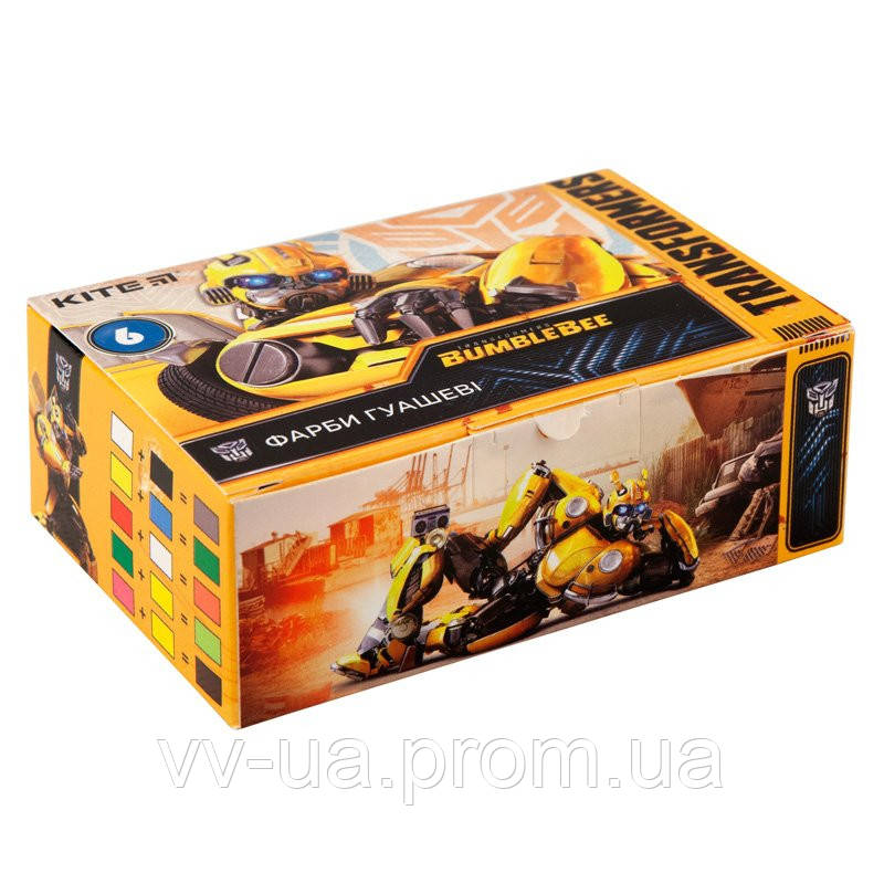 Гуаш Kite Transformers, 6 цветов TF19-062