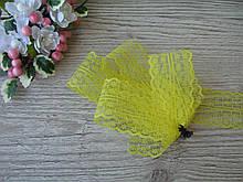 Мереживо в квіточку 4,5 см колір жовтий