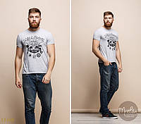 Мужская футболка серая, фото 1