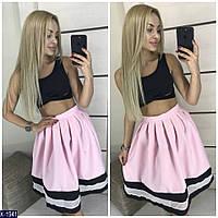 Женский летний красивый юбочный костюм  размеры 42-44,44-46  Новинка 2019  есть цвет
