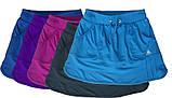 Шорты для тенниса (теннисные шорты) - юбка шорты для тенниса.  Юбка спортивная бирюзовая. Мод. 4051., фото 4